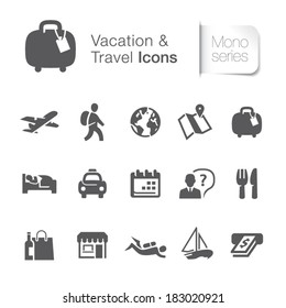 Vacation & travel related icons.