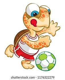 Vacationist Sportive Turtle Caretta Caretta - Football Soccer
