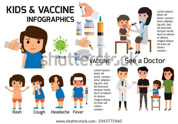 Infografiken Zum Impfkonzept Poster Kinder Oder Kinder Stock Vektorgrafik Lizenzfrei 1043775460