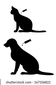 Vaccination of  dog and cat