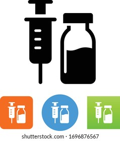 Vaccine Needle And Vial Icon