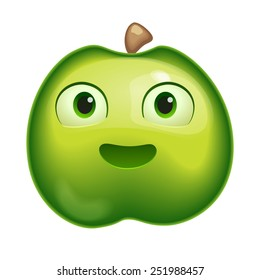 Vactor illustration of a apple character