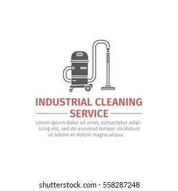 Vacuum cleaner for cleaning large. Flat icon. Machine for industry.