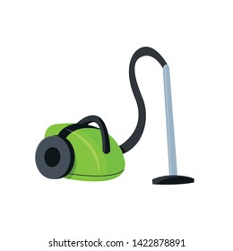 A vacuum cleaner.  Detail of the interior, goods in the store, household appliances.  Vector isolated illustration.