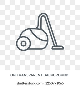 Vacuum cleaner icon. Trendy flat vector Vacuum cleaner icon on transparent background from Electronic devices collection. High quality filled Vacuum cleaner symbol use for web and mobile