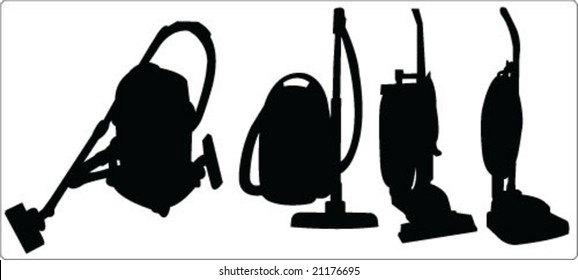 vacuum cleaner silhouette collection vector