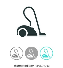 Vacuum cleaner vector icon.