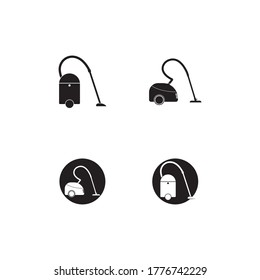 Vacuum cleaner vector icon template
