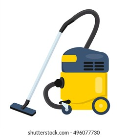 Vacuum cleaner vector illustration. Hoover icon. Cleaning machine symbol