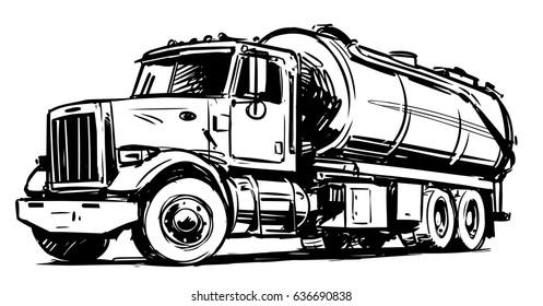 Vacuum truck sketch