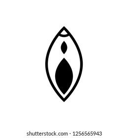 vagina icon. vector illustration