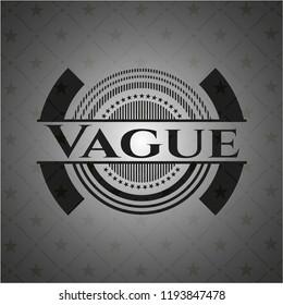 Vague black badge