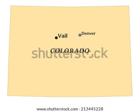 Vail Colorado Locate Map Stock Vector (Royalty Free) 213445228 ...