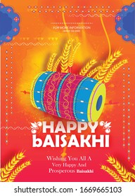 Vaisakhi, also known as Baisakhi festival in Hinduism and Sikhism, Abstract Background for baisakhi