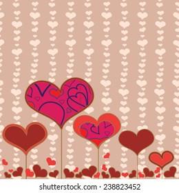 Valentin seamless pattern  Heart Love