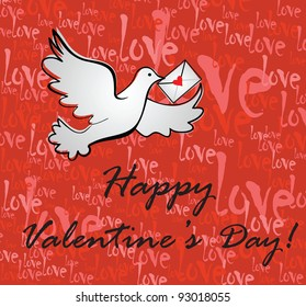 Valentine background with greeting message
