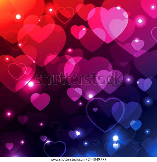 Valentine Background Hearts Wallpaper Love Texture Stock Vector