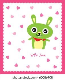 valentine bunny doodle
