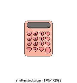 Valentine Calculator Fill Line Icon