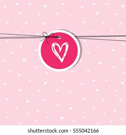 Valentine card with copy space