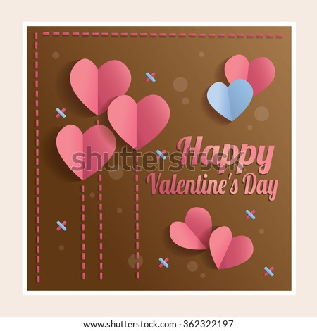 Valentine Card Happy Valentines Day Template Stock Vector Royalty