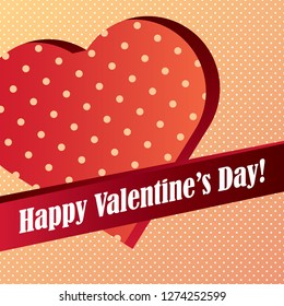Valentine card with pattern background