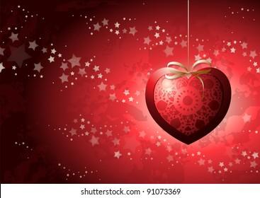Valentine card, vector background