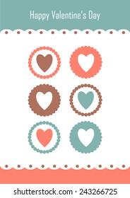 valentine day concept. flat design.