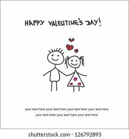 Valentine day. Couple