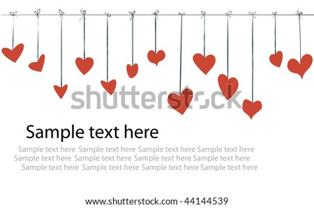 Valentine Day Flyer Background Stock Vector Royalty Free 44144539