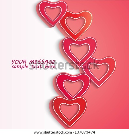 Valentine Day Flyer Background Eps 10 Stock Vector Royalty Free