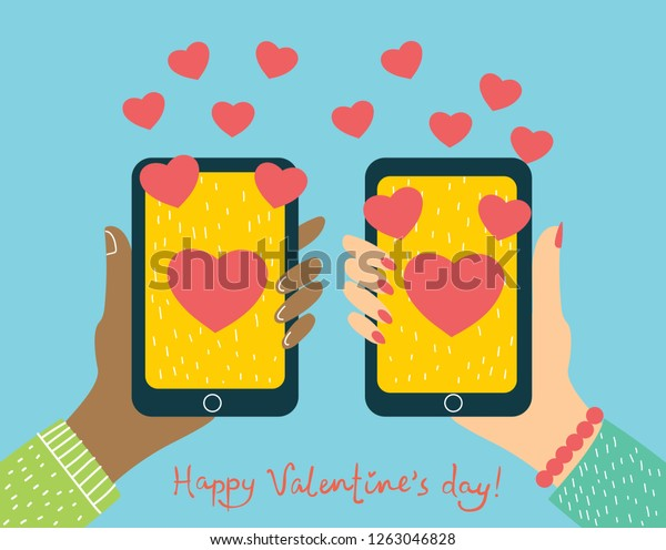 Valentine Day Gift Card Holiday Love Stock Vector Royalty