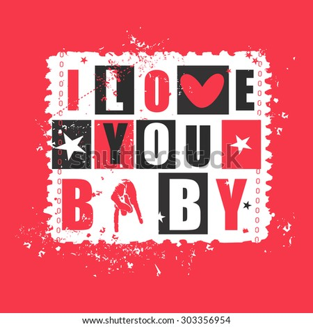 Valentine Day Gift Card Text I Stock Vector Royalty Free 303356954