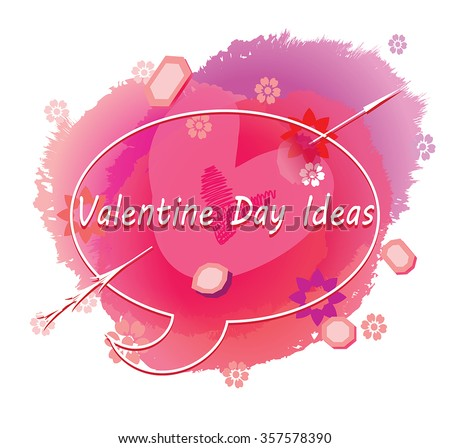 Valentine Day Ideas Vector Headline Illustration Stock Vector