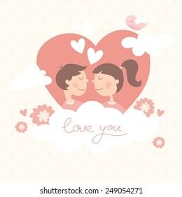 valentine day kiss card