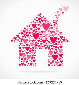 Valentine day love declaration home