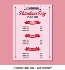 Valentine Day Special Menu 1 Side