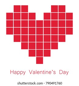 Valentine Day Square in Heart Vector Image