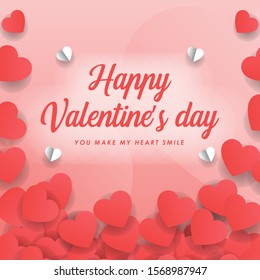 Valentine day wallpaper poster background vector graphic design
