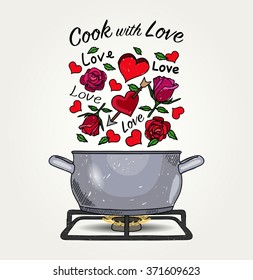 Valentine Dinner - Cook with Love