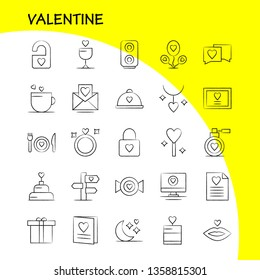 Valentine Hand Drawn Icon Pack For Designers And Developers. Icons Of File, Love, Romance, Valentine, Image, Love, Romance, Valentine, Vector