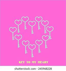 valentine heart of keys