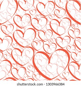 Valentine Heart Seamless Colored Pattern