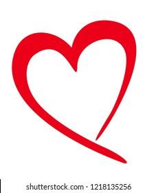 Valentine heart, Heart symbol vector icon