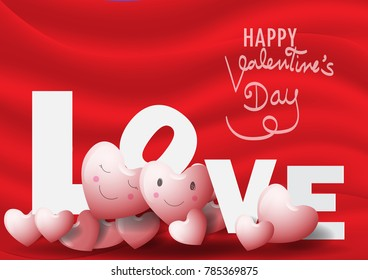 Valentine Hearts Background. Happy Valentines Day