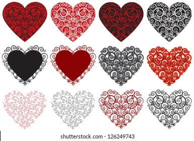 Valentine Hearts A collection of 12 ornate hearts. Perfect for you next Valentine�s Day project.