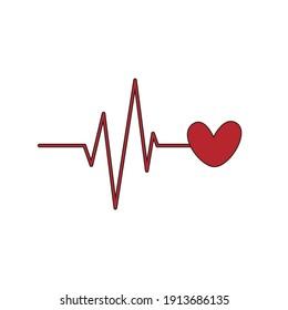 valentine icon heartbeat fill line-03