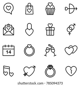 Valentine icon set. Happy valentine day related icon in white background