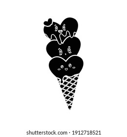 Valentine Kawaii Cute Ice Cream Solid