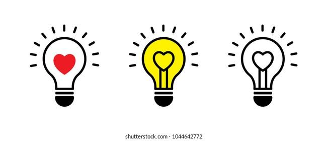 valentine light bulb vector